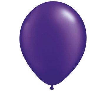 Paarse Metallic Ballonnen - 100 stuks