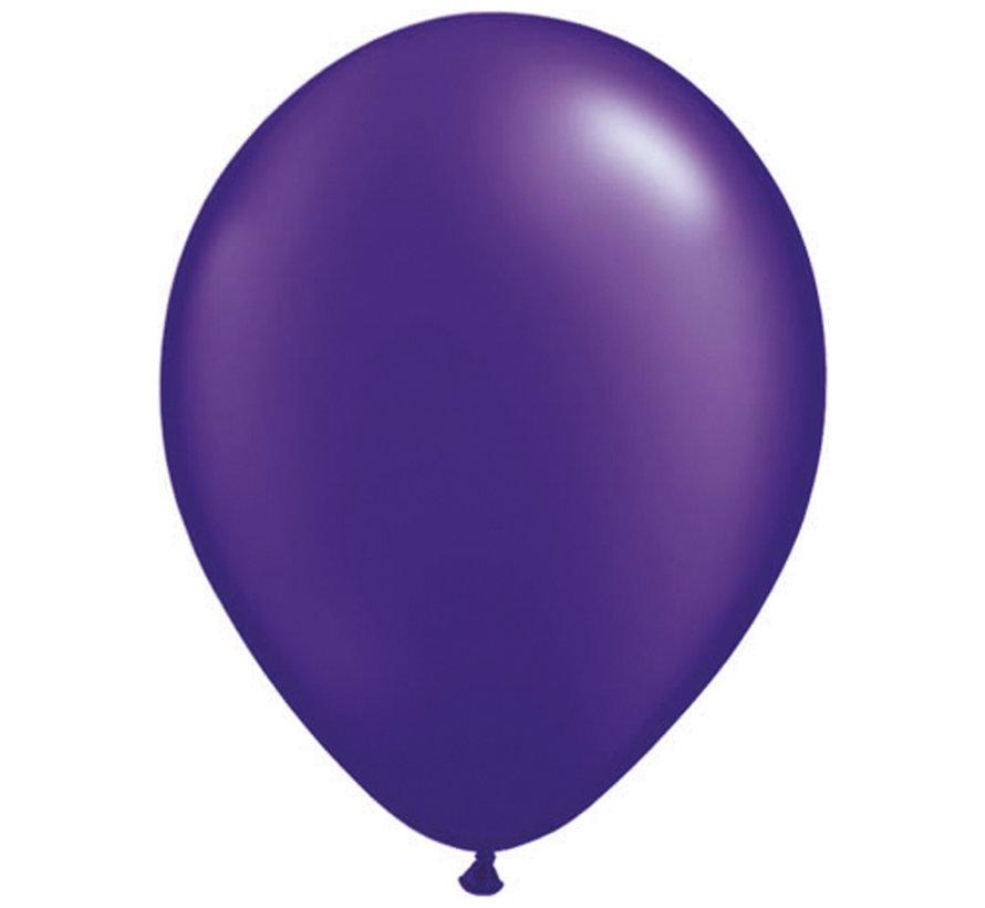Paarse Metallic Ballonnen 28cm - 100 stuks