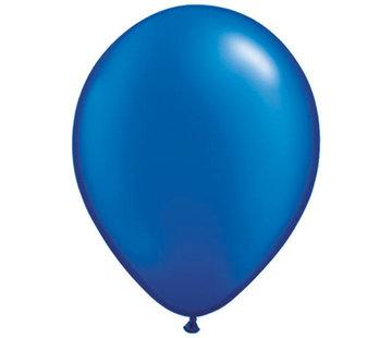 Sapphier Blauwe Metallic Ballonnen - 100 stuks