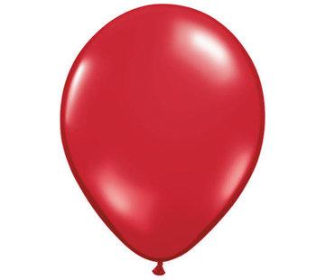 Transparante Ruby Red Ballonnen 28cm - 100 stuks