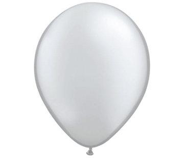 Zilveren Metallic Ballonnen - 100 stuks