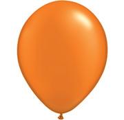 Oranje Metallic Ballonnen - 100 stuks