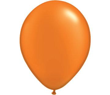 Oranje Metallic Ballonnen 28cm - 100 stuks