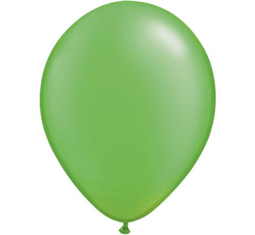 Lichtgroene Metallic Ballonnen 28cm - 100 stuks