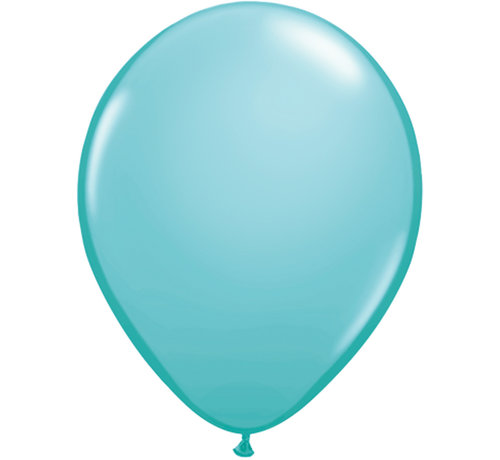 Kleine Caribean Blauwe Ballonnen 13cm - 100 stuks