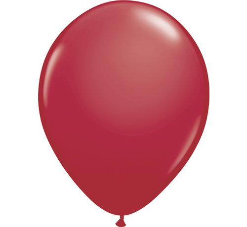 Kleine Ballonnen Bordeaux Rood 13cm - 100 stuks