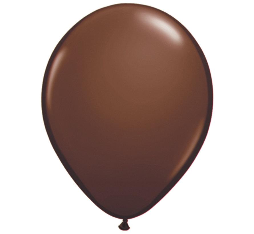 Kleine Chocolade Bruine Ballonnen 13cm - 100 stuks