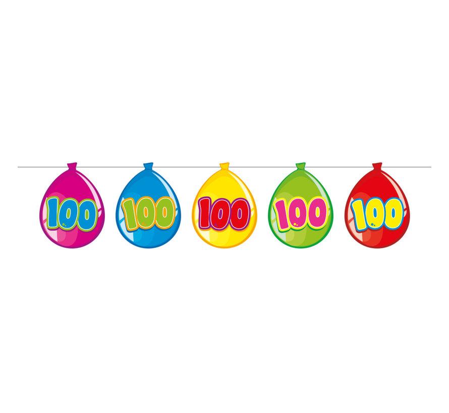 100 jaar vlaggenlijn ballon - 10 meter