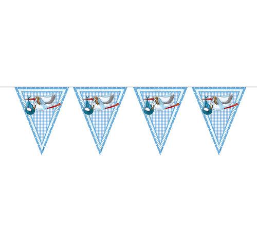 Vlaggenlijn Geboorte Jongen - 10 meter