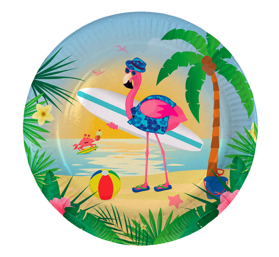 Flamingo Bordjes - 8 stuks