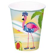 Flamingo Bekertjes - 8 stuk