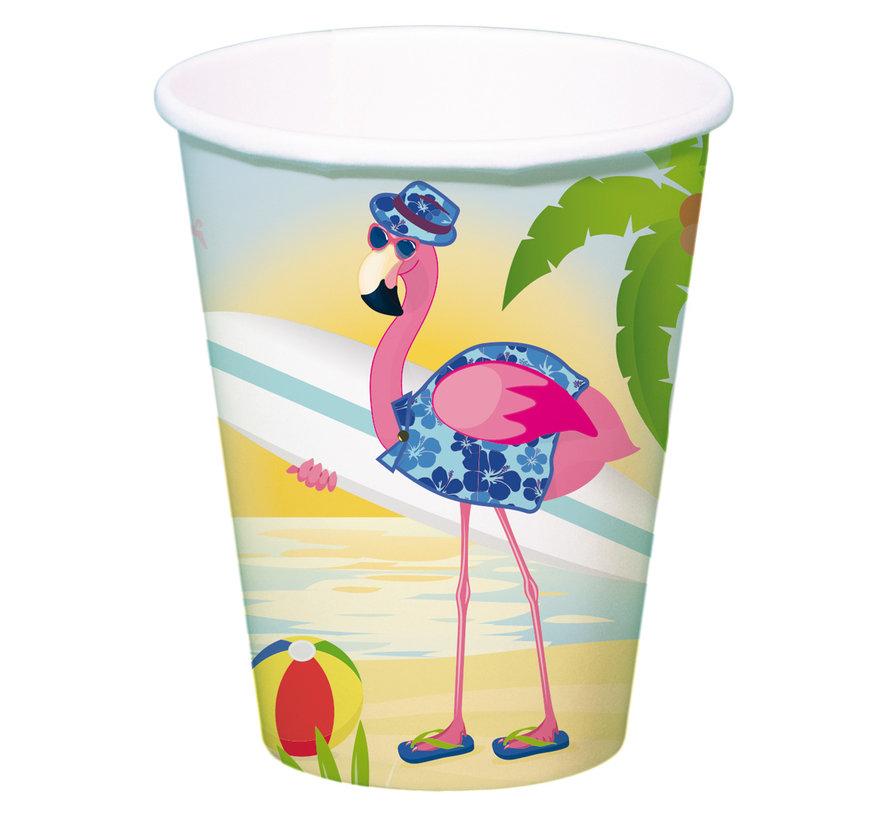 Flamingo Bekertjes - 8 stuks