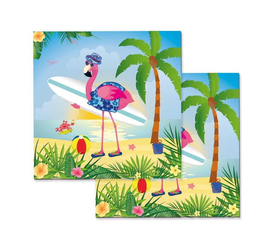 Flamingo Servetten - 20 stuks
