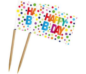 Feestprikkers Happy Birthday - 50 stuks