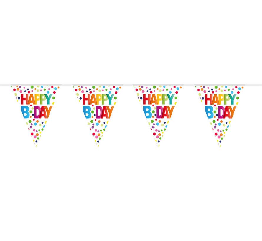 Vlaggenlijn Happy Bday - 10 meter