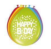 Happy Bday Ballonnen - 8 stuks