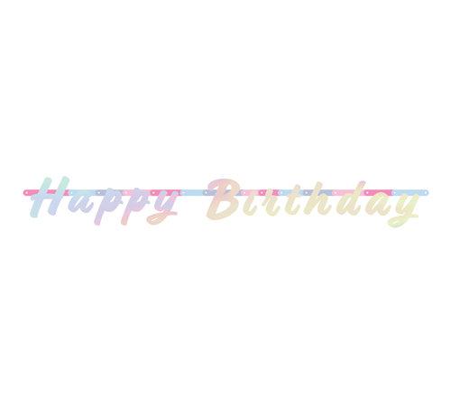 Happy Birthday Letterslinger - 130 cm