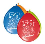 Abraham Ballonnen Rainbow 30cm - 8 stuks