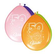Sarah Rainbow Ballonnen 30 cm - 8 stuks