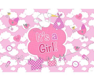 Raamvlag Geboorte Meisje - per stuk