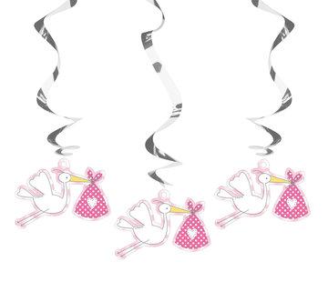 Geboorte Meisje Hangers - 3 stuks