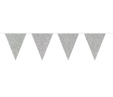 Vlaggenlijn Zilver Glitter - 6 meter
