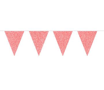 Vlaggenlijn Rood Glitter - 6 meter