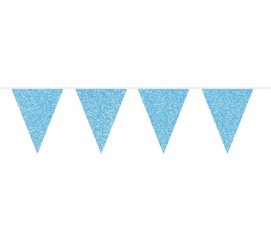 Vlaggenlijn Blauw Glitter - 6 meter