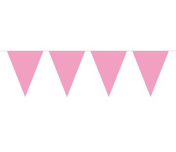 Vlaggenlijn Baby Roze - 10 meter
