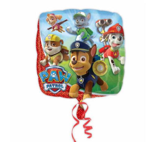 Paw Patrol vierkant folieballon 46cm - per stuk