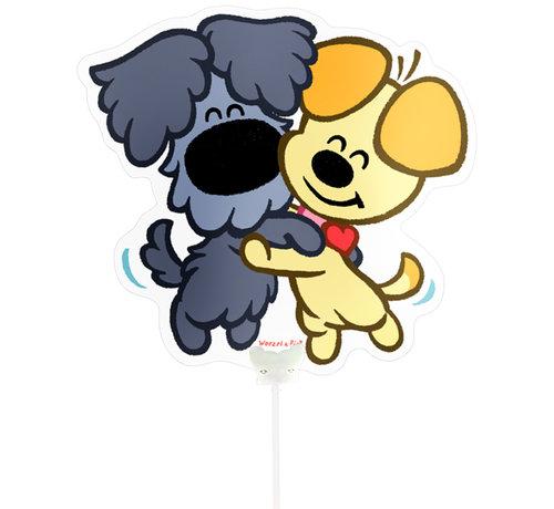 Woezel en Pip Mini Figuurballon - per stuk