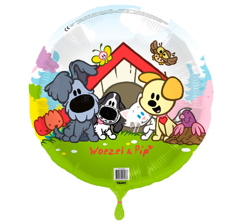 Woezel en Pip Folieballon 45 cm - per stuk