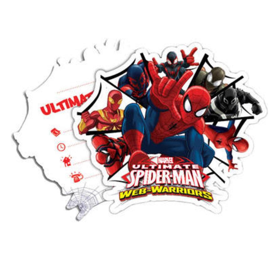 Spiderman Warriors Uitnodigingen - 6 stuks