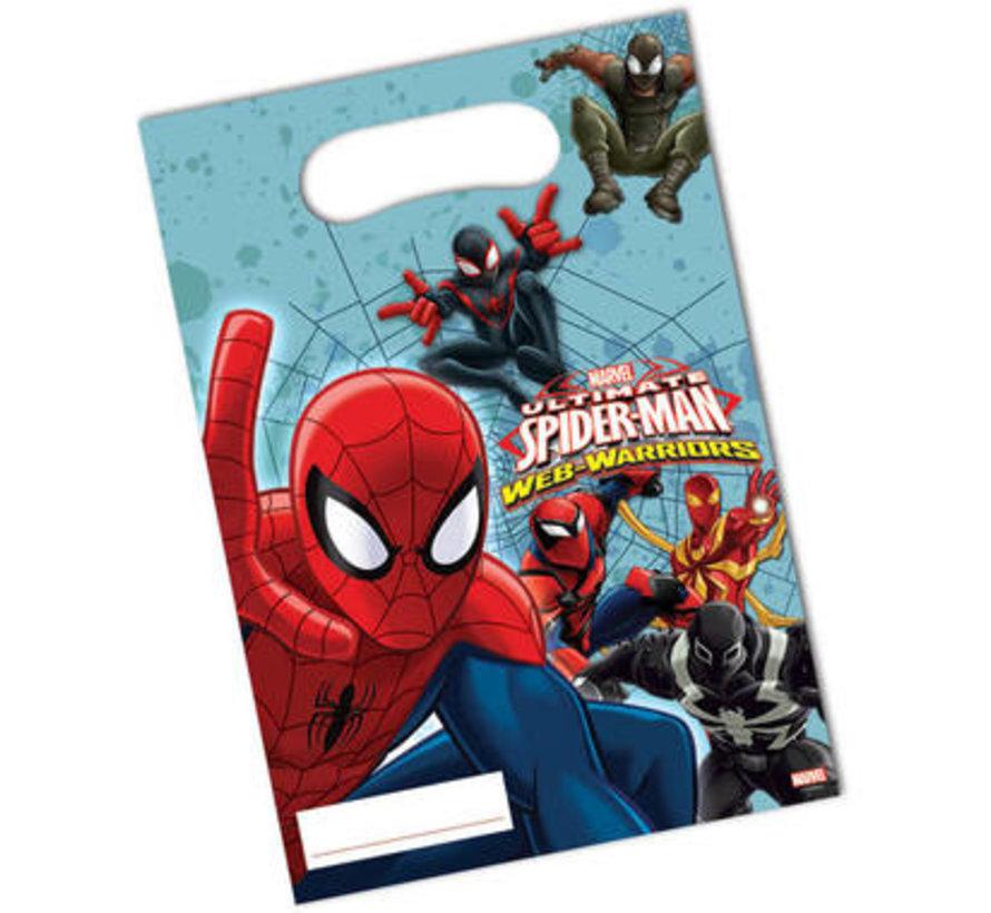 Spiderman Warriors Uitdeelzakjes - 6 stuks