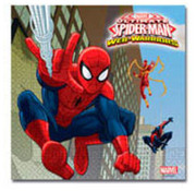 Spiderman Warriors Servetten - 20 stuks