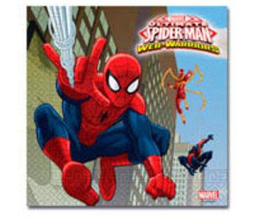 Spiderman Warriors Servetten - 20 stuks