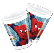 Spiderman Warriors Bekers - 8 stuks