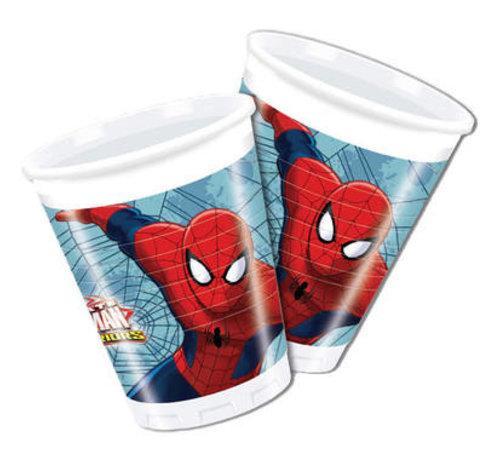 Spiderman Warriors Bekers - 8 stuks