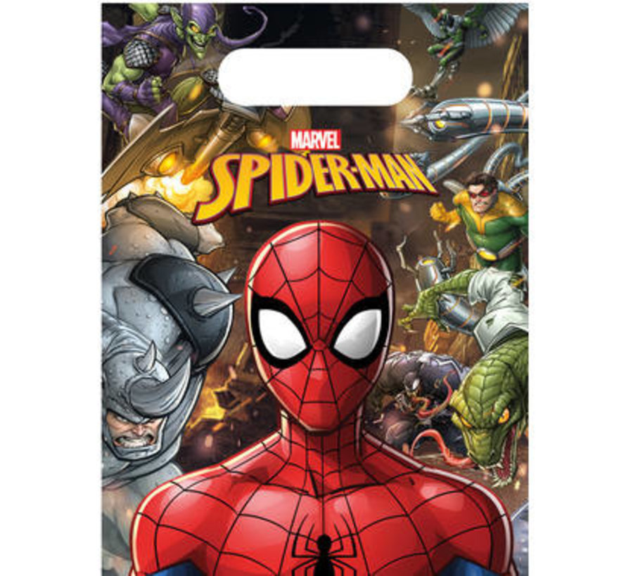 Spiderman Team Uitdeelzakjes - 6 stuks