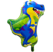 Dinosaurus Raptor folieballon - 1 stuk