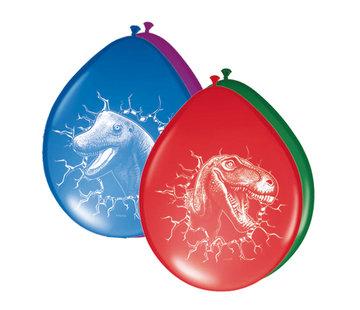 Dinosaurus Ballonnen 30cm - 6 stuks