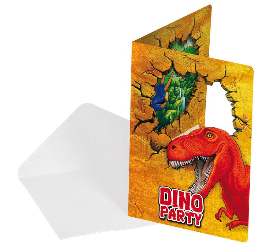 Dinosaurus Uitnodigingen - 6 stuks