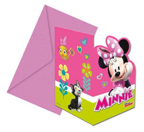 Minnie Mouse Happy Uitnodigingen - 6 stuks