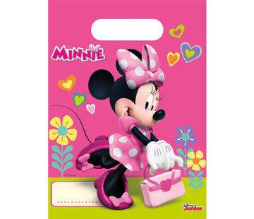 Minnie Mouse Happy Uitdeelzakjes - 6 stuks