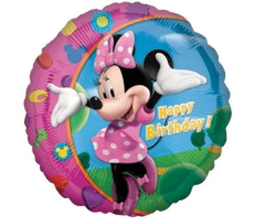 Minnie Mouse Happy Folieballon 45cm - per stuk