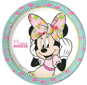 Minnie Mouse Tropical Bordjes - 8 stuks