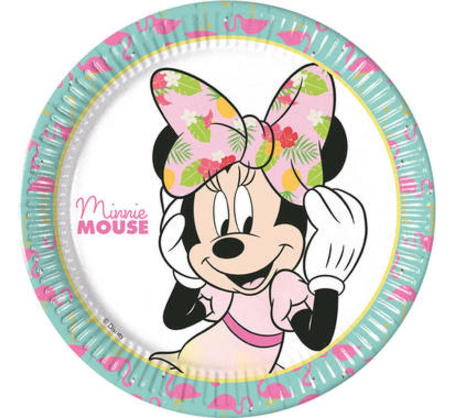 Minnie Mouse Tropical Bordjes - 8 stuks