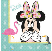 Minnie Mouse Tropical Servetten - 20 stuks