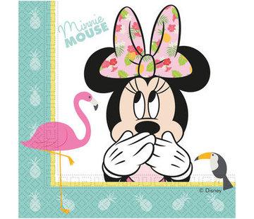 Minnie Mouse Tropical Servetten - 20 stuks