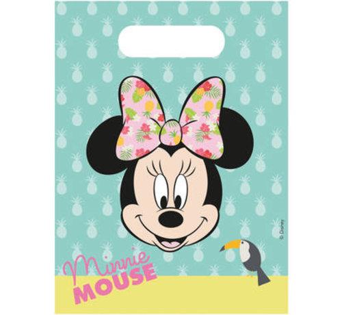 Minnie Mouse Tropical Uitdeelzakjes - 6 stuks